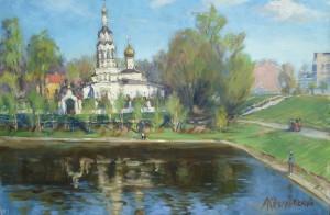 179 Храм Ильи Пророка в Черкизове 38х58,х.,м.,2015