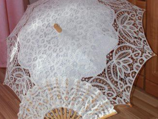 кружевной зонт