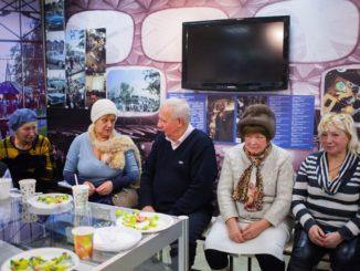 парк, Сокольники, встреча старожилов