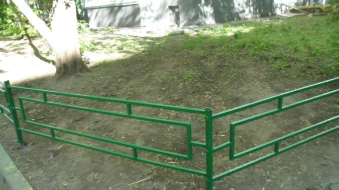 ограждение газона