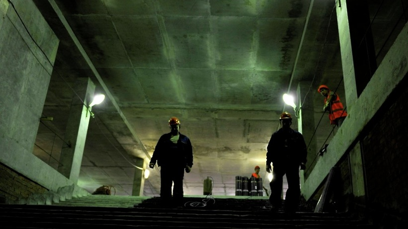 Строительство подземного перехода