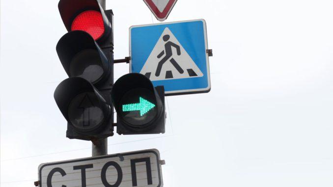 работу светофоров