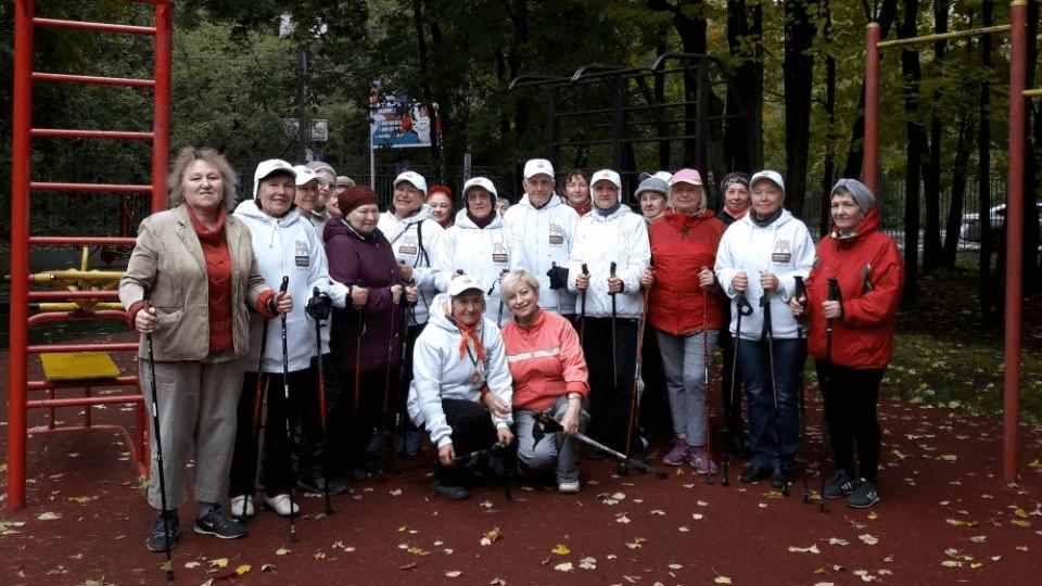 открытый урок по скандинавской ходьбе
