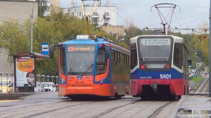 трамвайные пути у станции метро