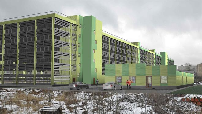 многоэтажный гаражный комплекс