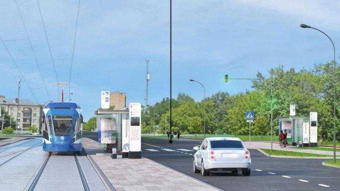 новая трамвайная линия